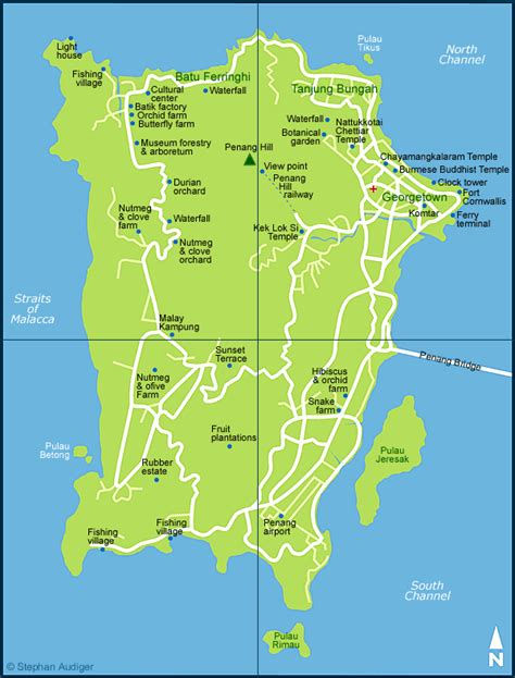 penang map map  penang  malaysia