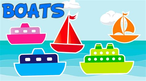 Boat Songs For Toddlers by Learn Colors With Boats Teach Colours Baby Toddler