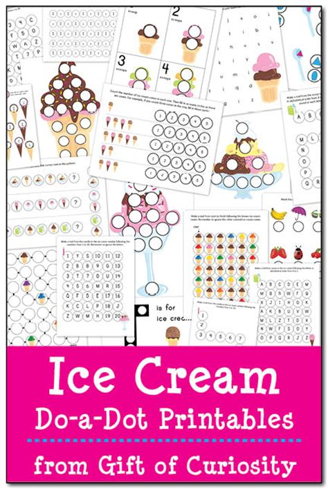 ice cream dot  dot printables  homeschool deals