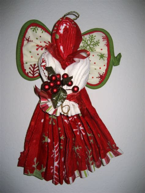 kitchen towel craft ideas this n that projects hand towel angel