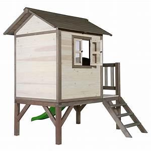 Maisonnette En Bois Sur Pilotis : maisonnette enfant bois sur pilotis toboggan lodge ~ Dailycaller-alerts.com Idées de Décoration