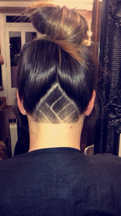girl undercut designs triangle