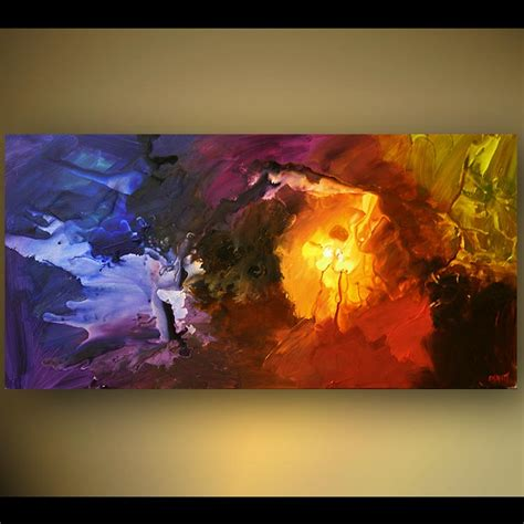 36 quot lost print on canvas stretched embellished abstract by osnat ebay