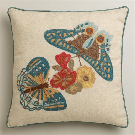 world market pillows two butterflies throw pillow world market
