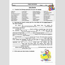 Adults' Daily Routine Worksheet  Free Esl Printable Worksheets Made By Teachers