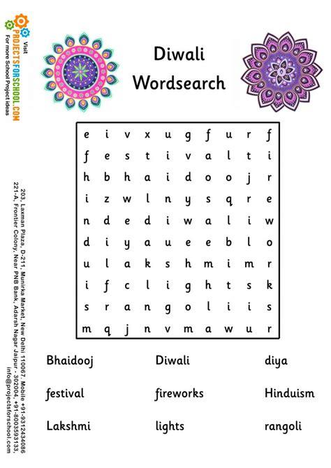 kids science projects diwali wordsearch