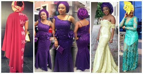 Sophisticated Nigerian Aso Ebi Styles.   Amillionstyles.com
