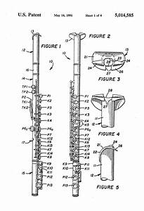Patent Us5014585 - End Blown Flute With Standard Keying