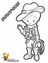 Cowboy Coloring Pages Cowboys Yescoloring Western Wear Em Ride Horse Rodeo Boots Printables Roundup sketch template