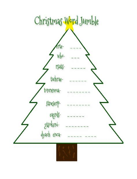 4 letter christmas words free word jumbles printables blessed beyond a 20101 | christmaswordjumble4