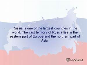 "Презентация на тему: ""RUSSIAN FEDERATION. Russia is one of ..."