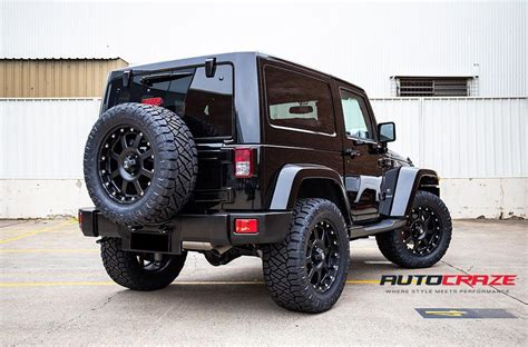 jeep wrangler strike xd matte black  car gallery auto craze
