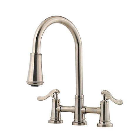 Pfister Ashfield Faucet Brushed Nickel by Pfister Gt531 Ypk Ashfield Pull Kitchen Faucet