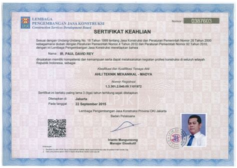 100%(2)100% found this document useful (2 votes). Sertifikat Keahlian - Madya PIPI