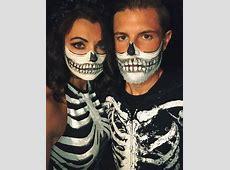 Halloween couples costume skeleton makeup HALLOWEEN
