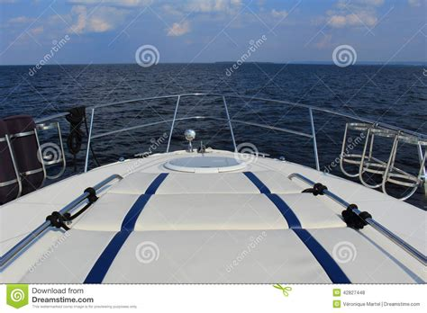 The Bow Of A Boat Where by View The Water From Bow Of A Boat Stock Photo Image