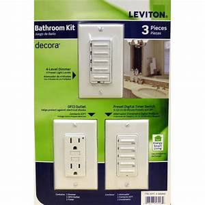 How To Wire Bathroom Light And Fan Leviton Bathroom Switch Kit Timer Gfci Dimmer