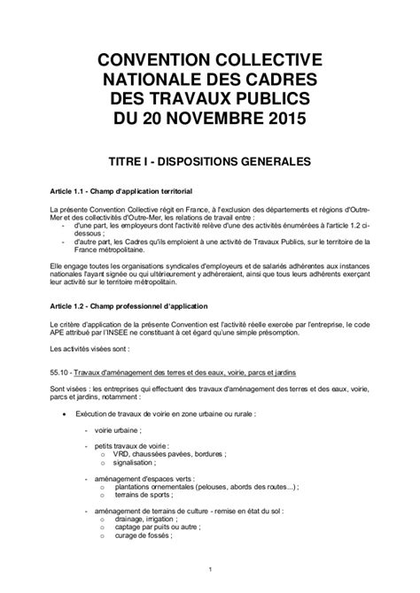 convention collective des cadres du batiment convention collective nationale des cadres des travaux publics 28 images convention