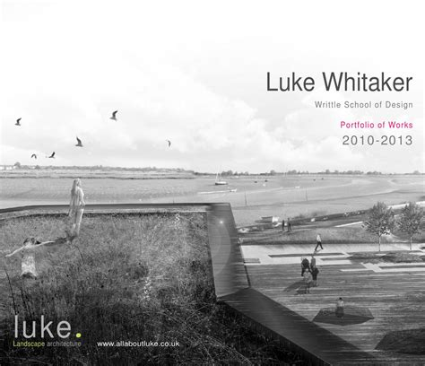 landscape architecture portfolio  luke whitaker issuu