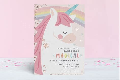 unicorno Foil Pressed Children's Birthday Party