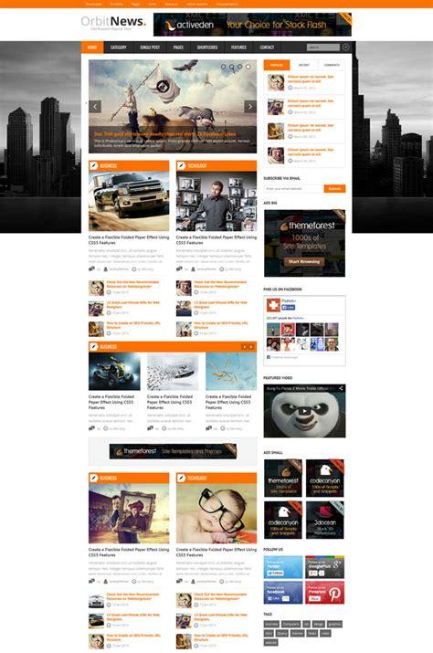 News Website Templates 20 Responsive Magazine Website Templates