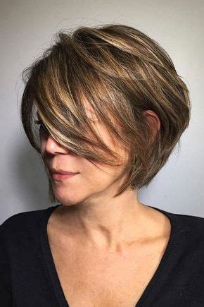 short stacked bob hairstyle  older women short