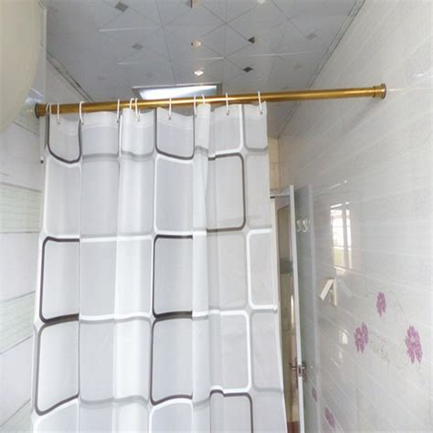 in shower curtain rod 39 59 inch stainless steel gold shower curtain rod
