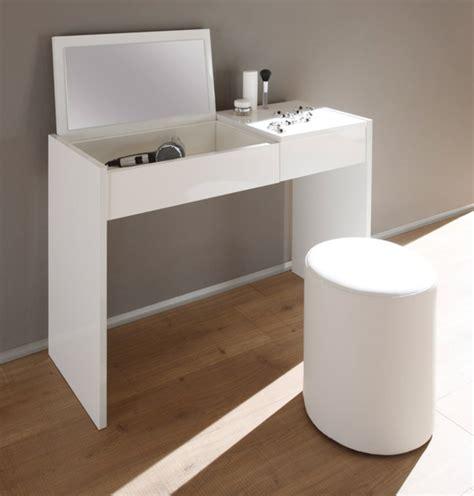 meuble haut bureau coiffeuse ponte blanc laque