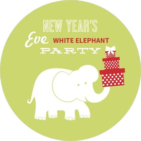 white elephant gift exchange new year s white elephant gift exchange party invitation new years eve invitations