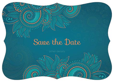 easy to use save the paisley invitation card design template