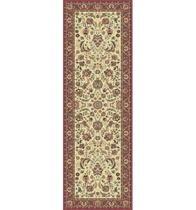 tappeti persiani tabriz tappeto tabriz classico passatoia floreale crema rosa 13720