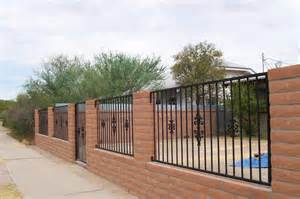 16 X 16 Concrete Patio Pavers by Gate Amp Wrought Iron Fence Gallery Tucson Arizona Old
