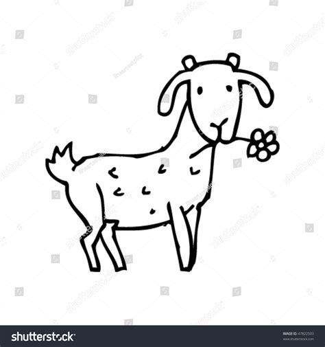 drawing goat stock vector  shutterstock