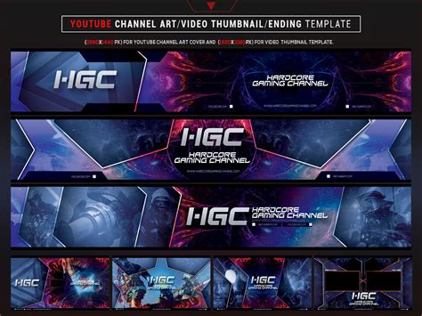 Youtube Hardcore Gaming Channel by mcgraphics on Dribbble