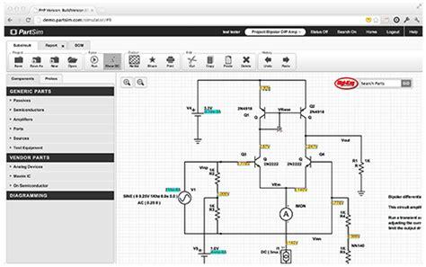 New Online Electronic Circuit Simulator Ponoko