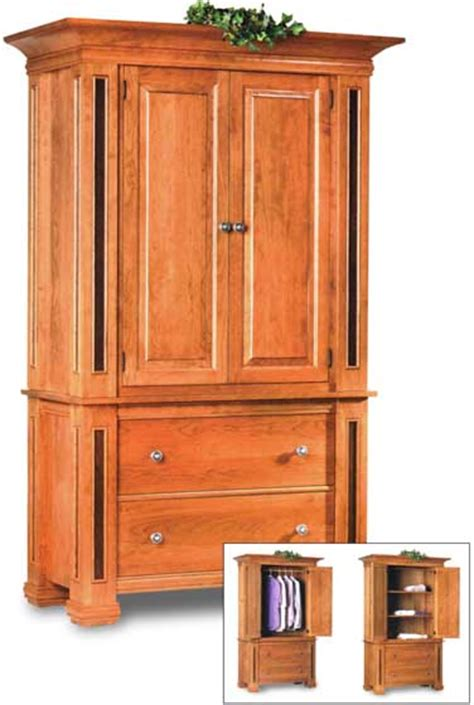 Oak Bedroom Armoire by Amish Timber Ridge Armoire Amish Bedroom Furniture