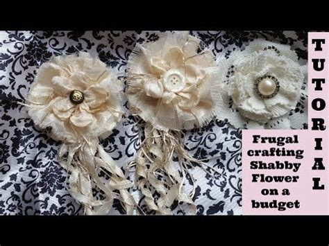 Melting Flower on a Budget no sew Shabby Chic Tutorial