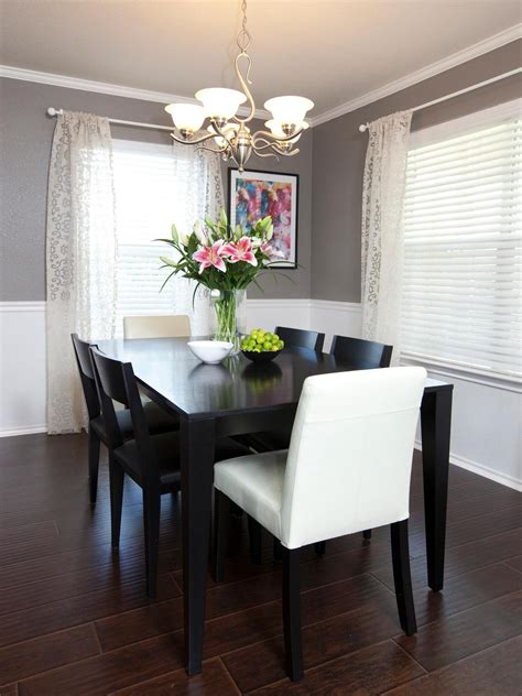 chair rail molding divides two toned walls in this neutral