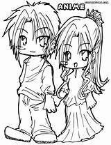 Couple Anime Coloring Pages Colorings sketch template