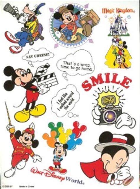 disney scrapbooking stickers tourist mickey mouse sheet