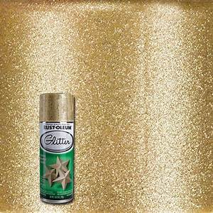 Rust oleum specialty 1025 oz gold glitter spray paint for Spray paint for furniture home depot