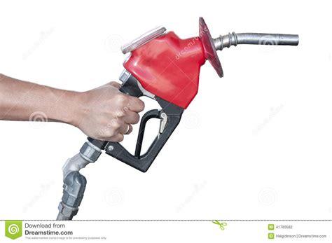 Gasoline Pump Nozzle With White Background Stock Photo
