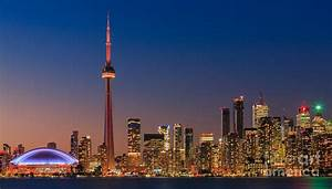 Toronto Skyline After Sunset Photograph by Henk Meijer