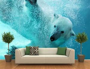 Poster Mural Grand Format : bien papier peint trompe l oeil chambre 7 tapisserie ~ Carolinahurricanesstore.com Idées de Décoration