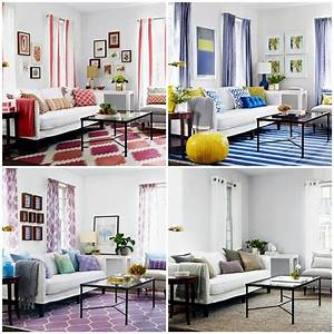 A living room 3 Cheap interior design ideas in different