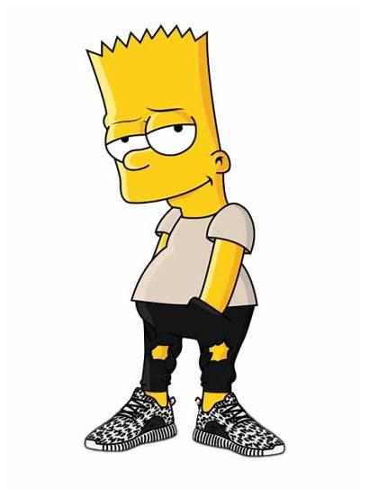 Bart Simpson Lisa Drawing Swag Supreme Bape