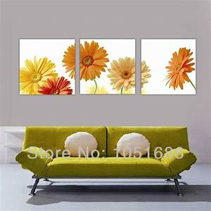 best 28 sunflower kitchen decor with painted With kitchen cabinets lowes with three piece canvas wall art