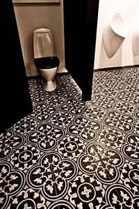 deco wc carreaux de ciment With carrelage adhesif salle de bain avec montre led homme luxe