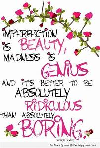 Imperfection Is... Madness And Brilliance Quotes