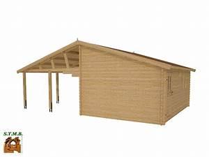Garage Bois En Kit : garage bois de m avec abri de m vendu en kit ~ Premium-room.com Idées de Décoration